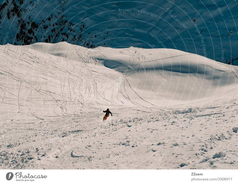 Abfahrt Lifestyle Freizeit & Hobby Ferien & Urlaub & Reisen Abenteuer Winter Schnee Winterurlaub Berge u. Gebirge Skifahren Mensch Natur Landschaft Sonne