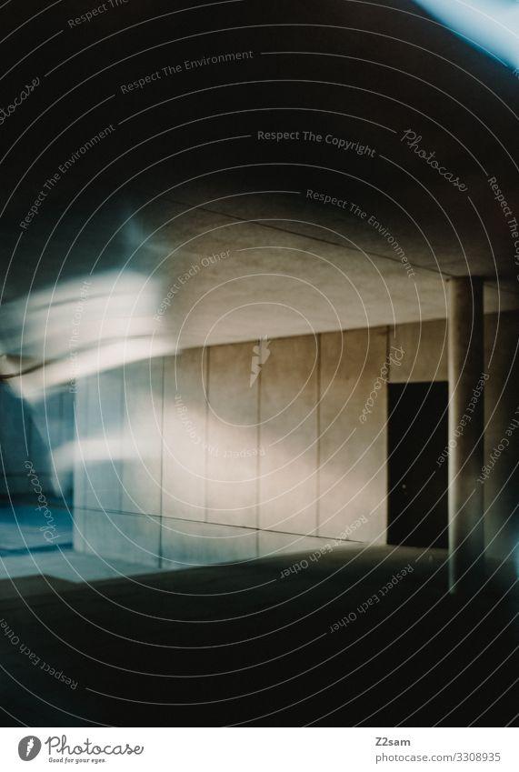Abstrakte Architektur Stadt Bauwerk Gebäude modern Design Farbe Perspektive Ferne Surrealismus Wandel & Veränderung Zukunft Beton betonfassade abstrakt