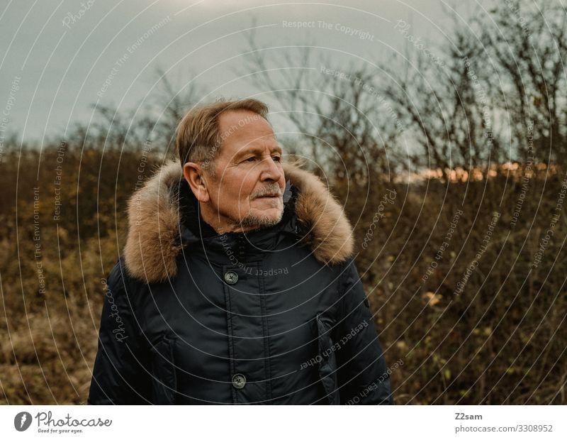 R. Natur Mann alt Landschaft Erholung Gesundheit Lifestyle Erwachsene Herbst Umwelt Senior natürlich Glück Stil Mode Freizeit & Hobby