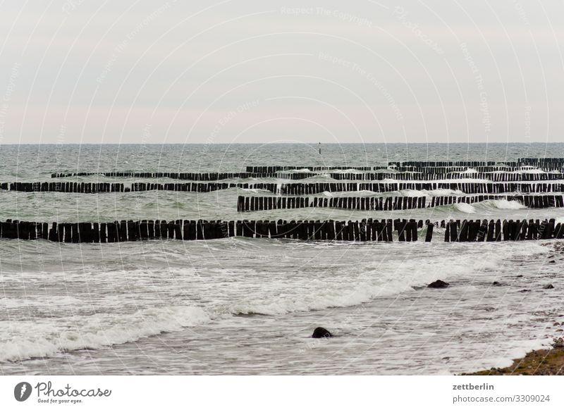 Ostsee vor Dranske Insel Küste Küstenwache Landschaft Mecklenburg-Vorpommern Meer Ostseekap Ostseeinsel Rügen Ferien & Urlaub & Reisen Wasser Wellen Winter Wind