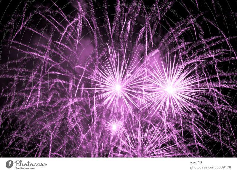 Luxury fireworks event sky show with pink big bang stars Nachtleben Entertainment Veranstaltung Feste & Feiern Silvester u. Neujahr Jahrmarkt Show rosa Angst