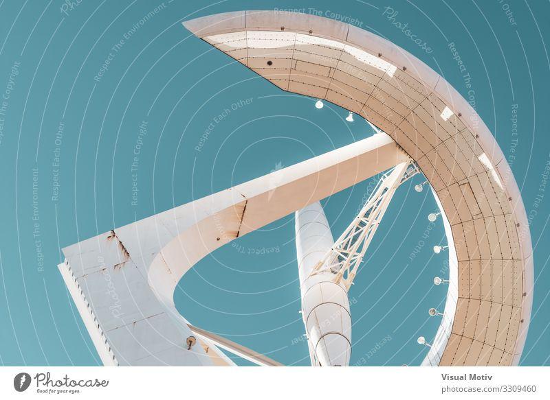 Tiefblick auf einen Kommunikationsturm Technik & Technologie Fortschritt Zukunft Telekommunikation Informationstechnologie Stadt Hauptstadt Turm Bauwerk