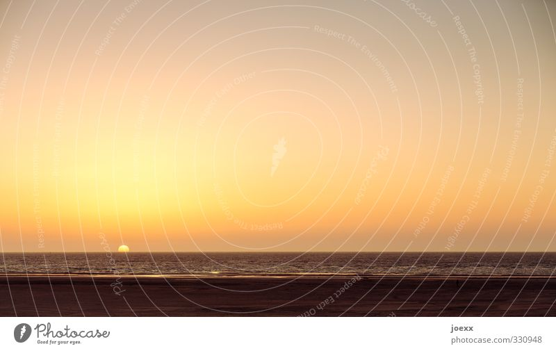 __.___________ Ferien & Urlaub & Reisen Ferne Sommerurlaub Sonne Strand Meer Wasser Himmel Wolkenloser Himmel Horizont Sonnenaufgang Sonnenuntergang