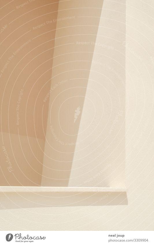 Flat Design Mauer Wand Balkon ästhetisch eckig Zufriedenheit minimalistisch Hintergrundbild flach Sonnenstrahlen Gedeckte Farben Hintergrund neutral Schatten