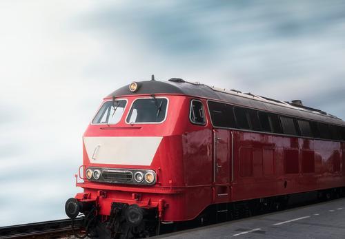 Ferien & Urlaub & Reisen rot Deutschland Tourismus Verkehr retro Eisenbahn Fahrzeug Bahnhof klassisch umweltfreundlich Lokomotive Bahnfahren
