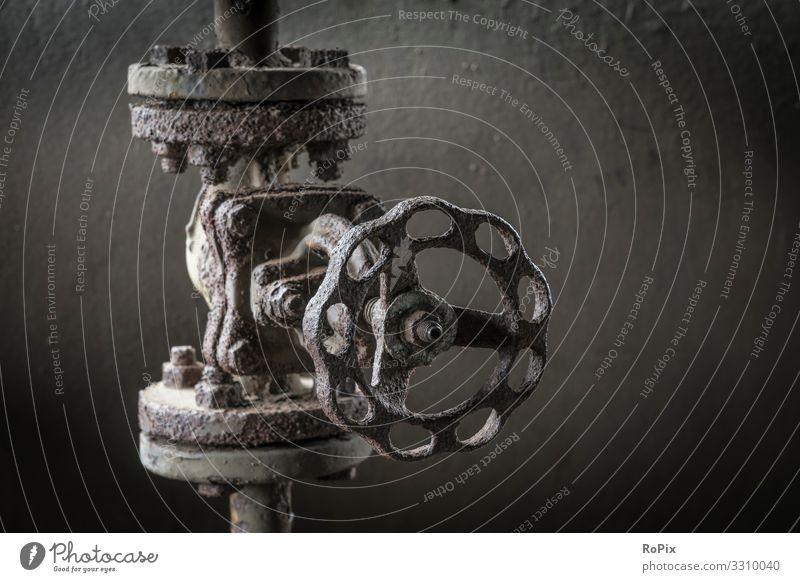 Verwittertes Rohrventil in einem Stahlwerk. Lifestyle Design Freizeit & Hobby Ferien & Urlaub & Reisen Sightseeing Bildung Wissenschaften