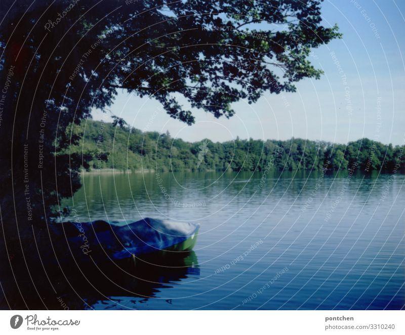 Naherholungsgebiet Natur Sommer blau Wasser Landschaft Baum Erholung ruhig gelb Umwelt Frühling See Wasserfahrzeug Sträucher Schönes Wetter Ruderboot