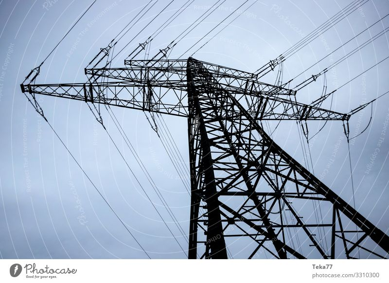 #Hochspannungsmast #2 Winter Maschine Technik & Technologie Unterhaltungselektronik Energiewirtschaft Erneuerbare Energie Industrie ästhetisch Elektrizität