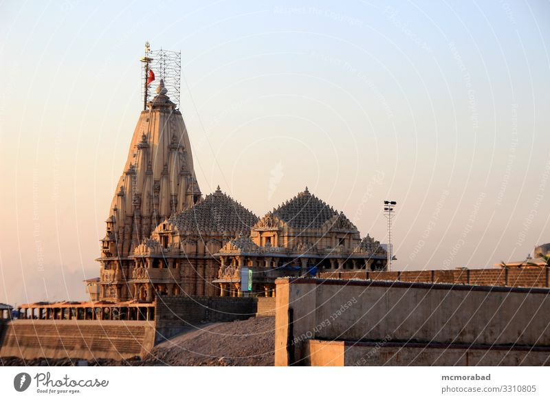 Somanath-Tempel bei Sonnenuntergang Ferien & Urlaub & Reisen Platz Religion & Glaube Abenddämmerung Jyotirlinga Shiva Saiva Hinduismus Inder geistig heilig
