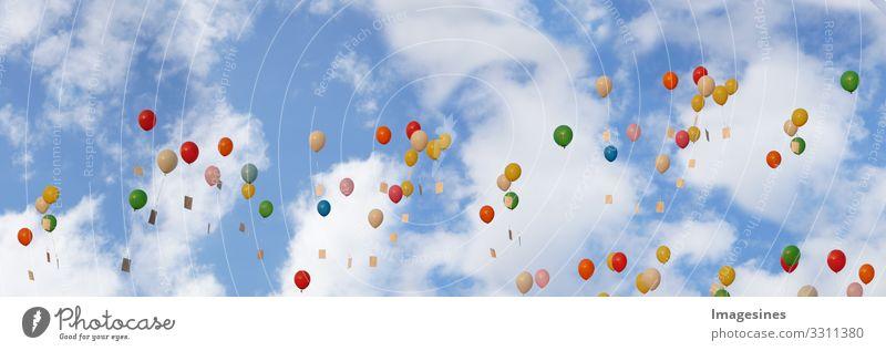 Luftballons Lifestyle Freude Glück Freizeit & Hobby Hochzeit Hintergrundbild Sommer Feste & Feiern Valentinstag Geburtstag Partystimmung Liebesgruß Lebensfreude