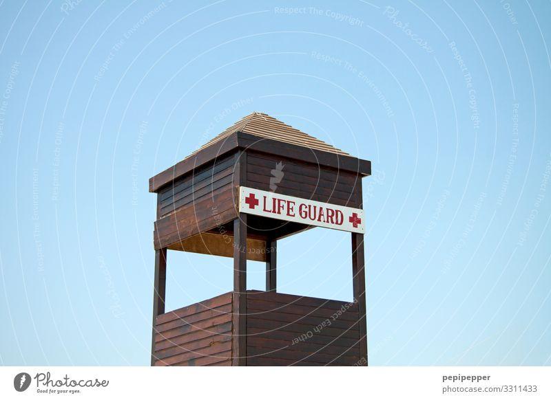 Life Guard Freizeit & Hobby Ferien & Urlaub & Reisen Tourismus Sommer Sommerurlaub Sonnenbad Strand Meer Wassersport Schwimmen & Baden Schwimmbad Küste Hütte