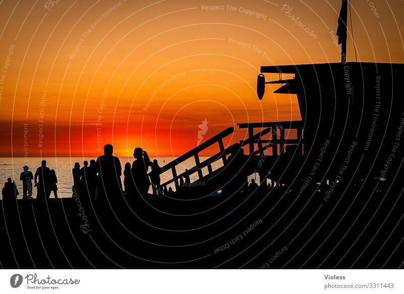 den Abend genießen Pazifik Santa Monica Kalifornien Anlegestelle USA Pacific Ocean Park Venice Los Angeles Route 66 Sonnenuntergang Strand