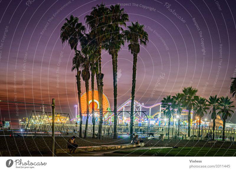 Santa Monica Pier III Pazifik Kalifornien Anlegestelle USA Pacific Ocean Park Venice Los Angeles Wahrzeichen Route 66 Riesenrad Sonnenuntergang Achterbahn