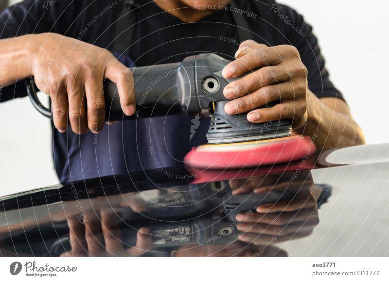 Autopolierausrüstung kaufen Reichtum Arbeit & Erwerbstätigkeit Beruf Industrie Werkzeug Technik & Technologie Mann Erwachsene Hand Verkehr Fahrzeug PKW Metall