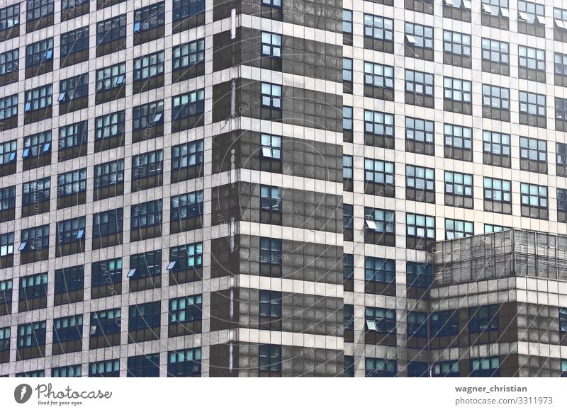 The office Design Büro Business Hochhaus Gebäude Architektur Mauer Wand Fassade hässlich Großstadt Hintergrundbild Korea Stadt grau Fenster Strukturen & Formen