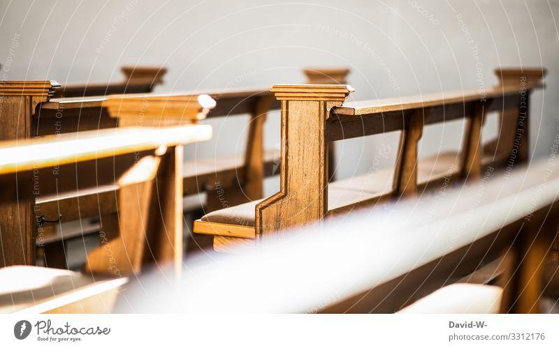 Kirchenbänke Lifestyle Mensch Leben Kunst Gefühle Hoffnung Glaube Trauer Kirchenbank Kirchenraum Kirchentag Sitzgelegenheit Religion & Glaube Protestantismus