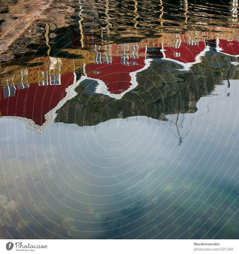 Lofoten Ferien & Urlaub & Reisen Wasser Meer Erholung Haus Ferne Architektur Freizeit & Hobby Häusliches Leben authentisch Tourismus Dorf Fernweh Leichtigkeit