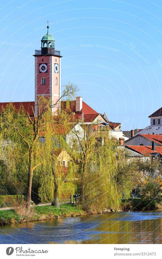 Eichstätt schön Tourismus Ausflug Sightseeing Sommer Sonne Wetter Stadt Altstadt Rathaus Architektur Sehenswürdigkeit Wahrzeichen Denkmal historisch blau