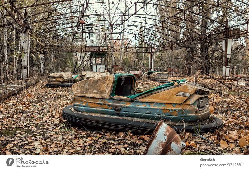 alt Pflanze Baum Blatt Herbst Park Metall gefährlich Rost Strahlung ökologisch Zerstörung Umweltverschmutzung Schaden Akzeptanz Vergnügungspark