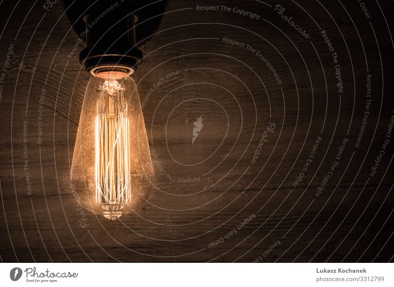 Edison-Oldtimer-Glühbirne, Retro-Glühbirne in der Dunkelkammer Reichtum elegant Stil Design Dekoration & Verzierung Möbel Lampe Technik & Technologie