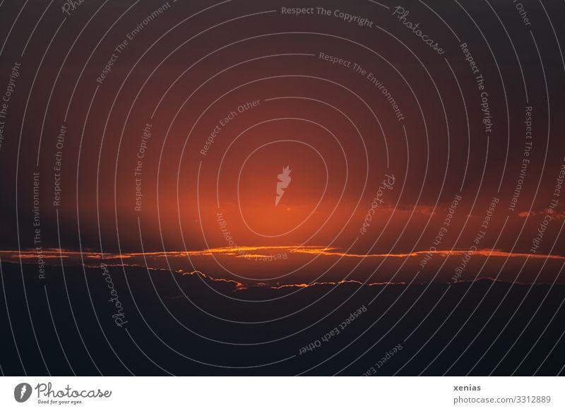 die Sonne ist untergegangen Himmel Natur Landschaft rot Wolken Ferne dunkel schwarz Umwelt orange Wetter Abenteuer Beginn Klima Urelemente Unendlichkeit