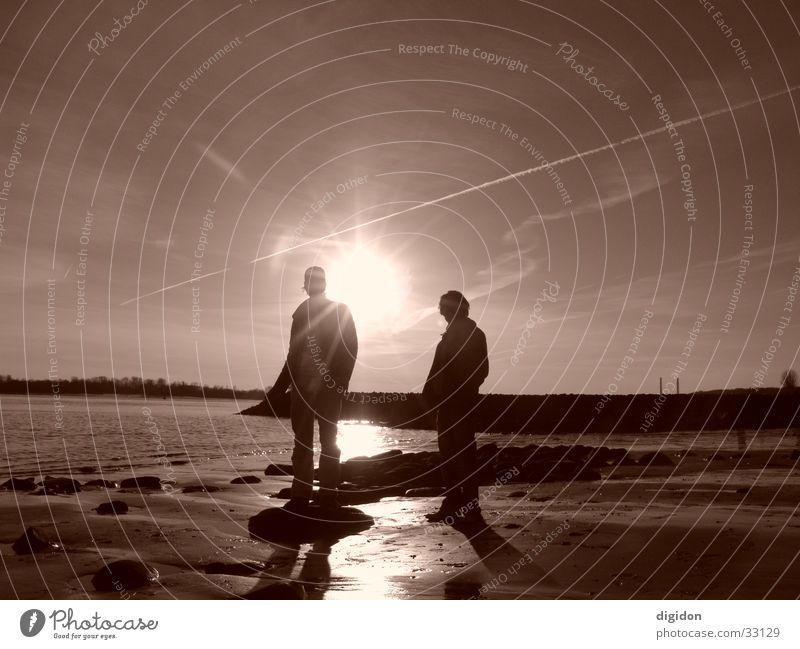 batman&robin Mensch Himmel Sonne Strand Schönes Wetter