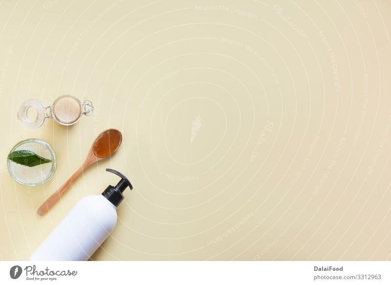 Shampoo-Flasche Design Körper Haut Gesicht Creme Behandlung Medikament Bad Container Accessoire Verpackung Tube Paket Haarbürste Holz Kunststoff Sauberkeit weiß
