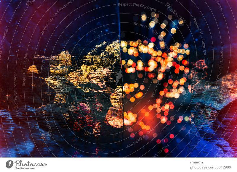 Leuchtendes Licht Lichtspiel Lichtstimmung Lightshow Unschärfe Farbfoto Lichterscheinung Reflexion & Spiegelung Silvester u. Neujahr Festzeltstimmung Feiern