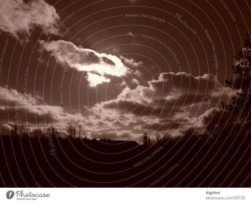 himmel Himmel Sonne Wolken braun