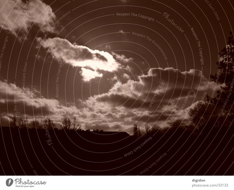 himmel Wolken braun Himmel Sonne verdecken