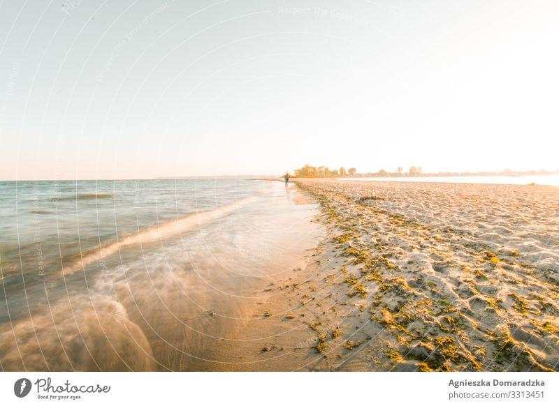 Strandspaziergang Beach Seaside Baltic Baltic Sea Baltikum Polen Sand Sunlight Waves Ocean Ostsee Walk Meer Wellen Norden Wasser