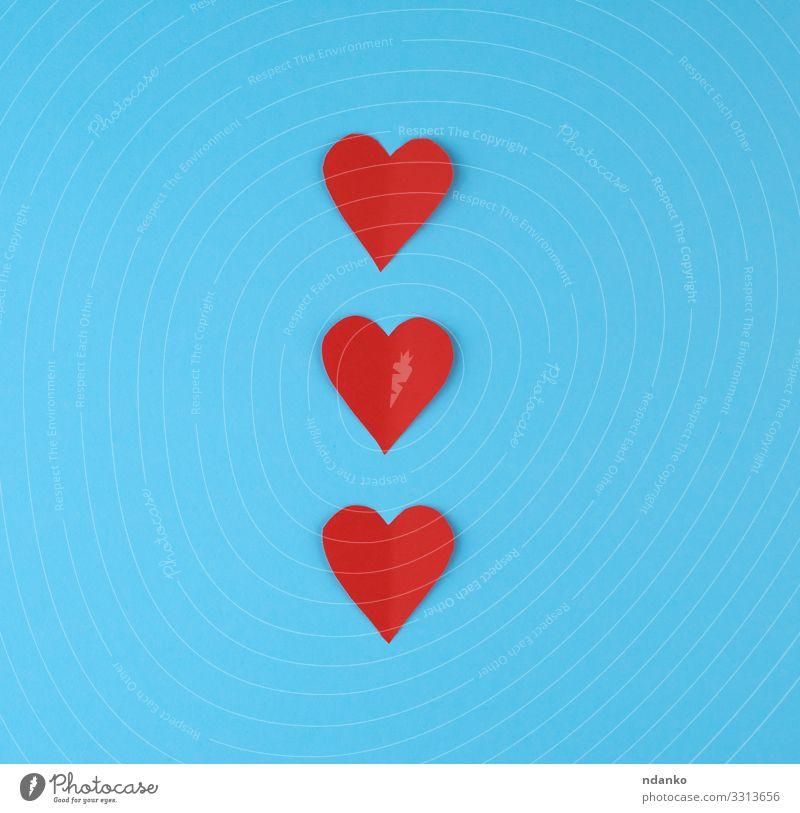 aus rotem Papier ausgeschnittene Herzen Stil Design schön Dekoration & Verzierung Feste & Feiern Valentinstag Hochzeit Geburtstag Handwerk Sammlung Liebe