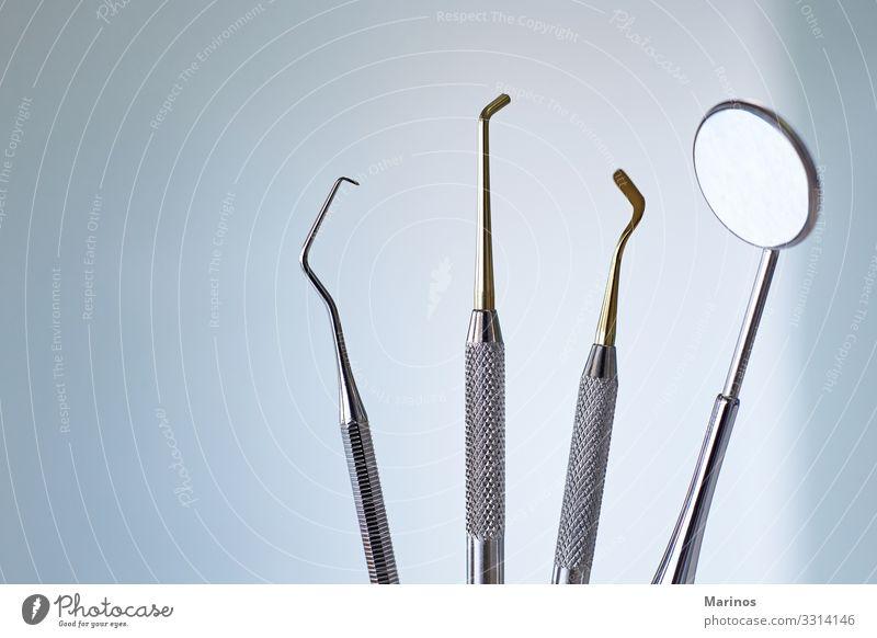 Zahnärztliche Ausrüstung. zahnärztliche Werkzeuge für die Mundgesundheitspflege. Gesundheitswesen Medikament Büro Technik & Technologie Zähne Metall Stahl