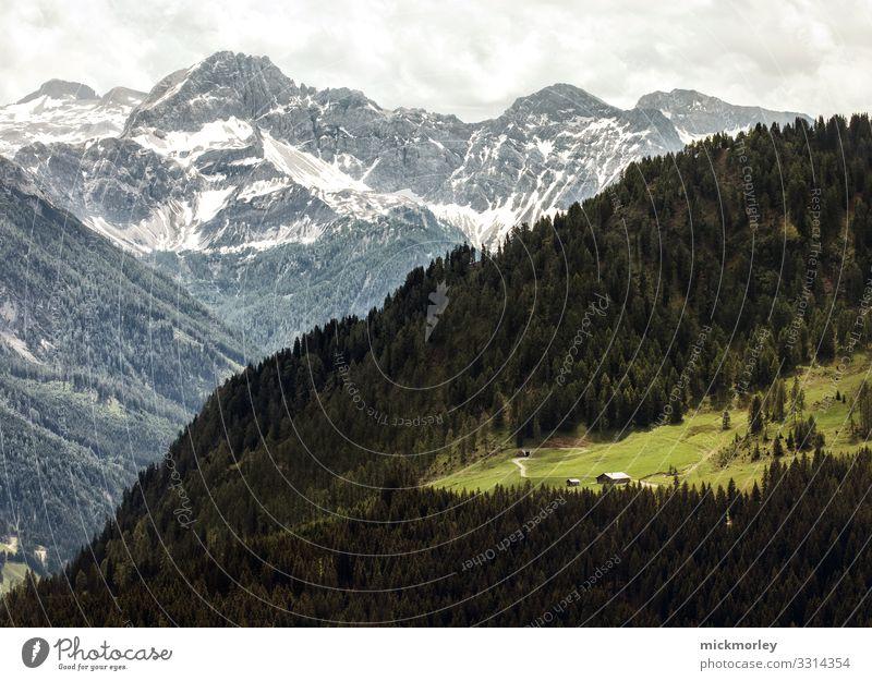Almhütte in den Bergen Ferien & Urlaub & Reisen Natur Sommer schön grün Landschaft Erholung ruhig Ferne Berge u. Gebirge Gesundheit Leben Umwelt Bewegung