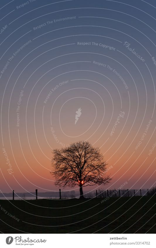 Versteckte Sonne Abend Dorf Dämmerung Farbkarte Farbe Farbenspiel Fischerdorf Insel Kap Küste Landschaft Mecklenburg-Vorpommern Meer Ostsee Rügen
