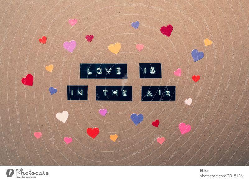la laa la la laaa Valentinstag Hochzeit Herz Liebe Verliebtheit Romantik Liebeserklärung Liebesleben Liebesgruß mehrfarbig Postkarte Kitsch Farbfoto