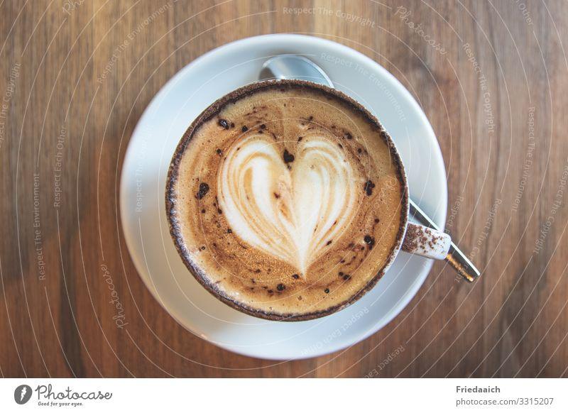 Cappuccinogenuss Kaffeetrinken Heißgetränk Tasse Glück Erholung ruhig genießen sprechen sitzen ästhetisch Duft Flüssigkeit gut heiß lecker braun Zufriedenheit