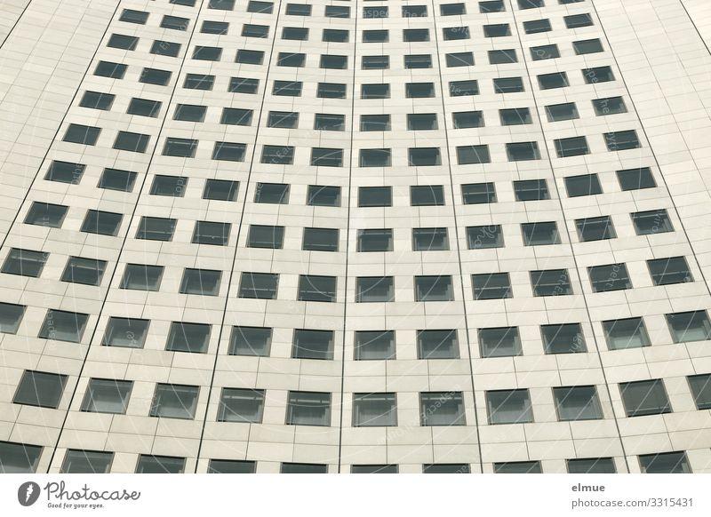 Musterhaus Hochhaus Fenster elegant gigantisch hoch Höhenangst Platzangst Business Design Gesellschaft (Soziologie) Inspiration Kunst Netzwerk Perspektive Team