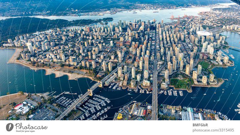Luftbild Vancouver Downtown Lifestyle kaufen Reichtum Ferien & Urlaub & Reisen Tourismus Abenteuer Ferne Freiheit Sightseeing Städtereise Insel Kanada