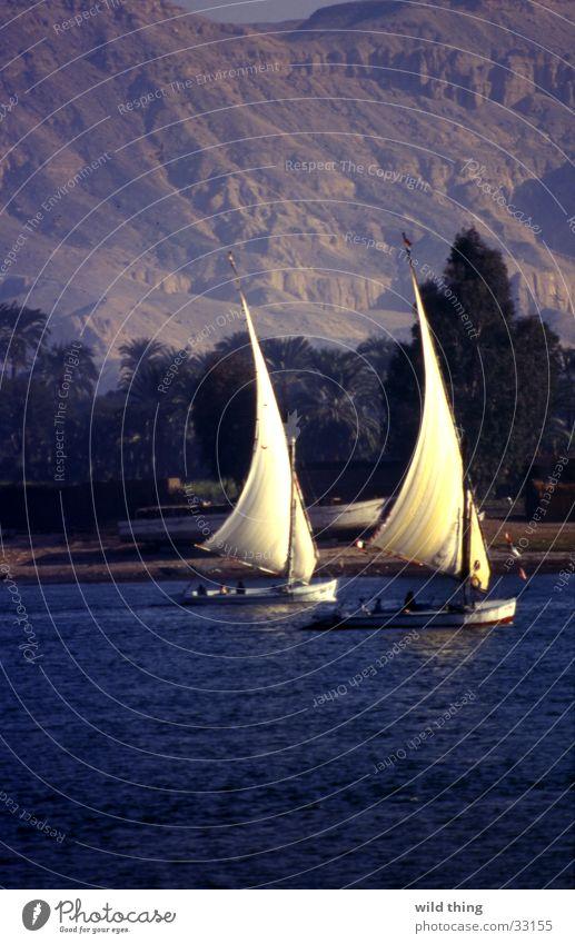 egypte See Wasserfahrzeug Zufriedenheit Zeile