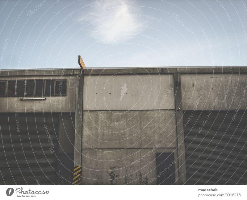 Tschernobyl Stadt Einsamkeit dunkel Architektur Wand Gebäude Mauer Fassade Arbeit & Erwerbstätigkeit dreckig authentisch Vergänglichkeit kaputt Industrie
