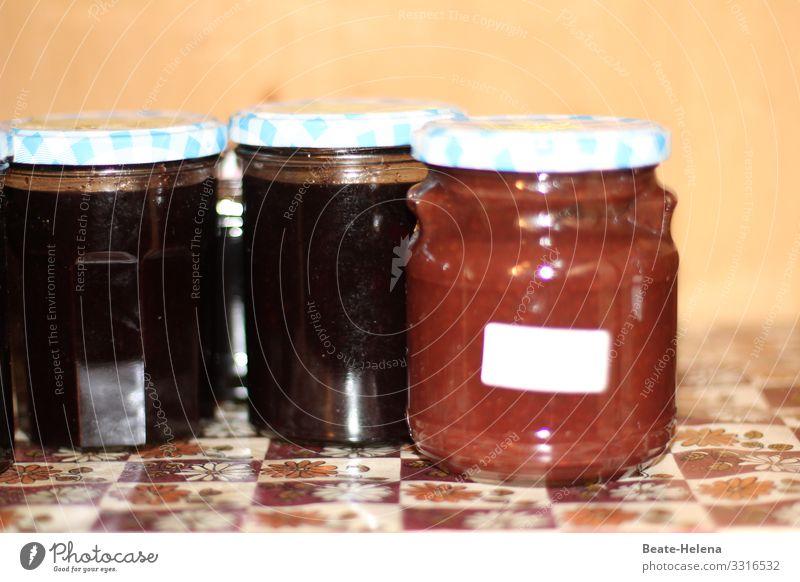 Guten Appetit (3) Lebensmittel Marmelade Ernährung Frühstück Bioprodukte Glas Lifestyle Gesundheit Gesunde Ernährung Küche Nutzpflanze wählen Essen genießen