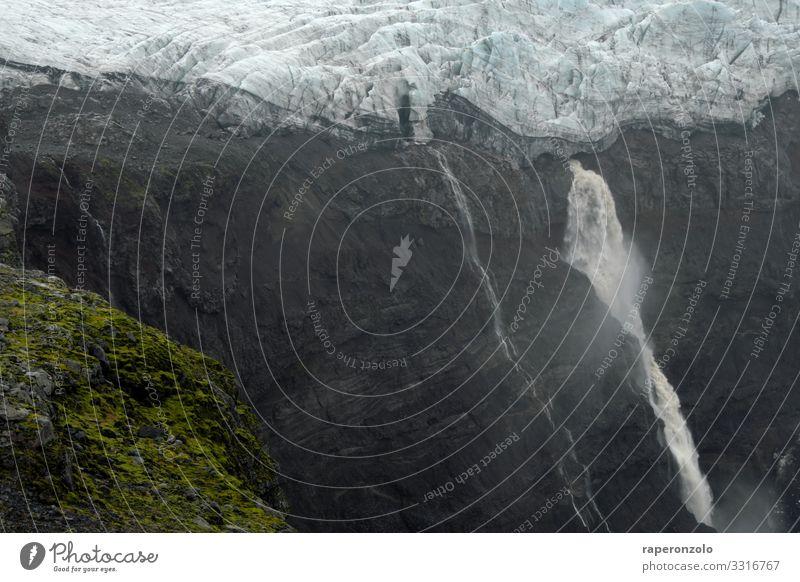 Abbruchkante eines Gletschers Gletschereis Eis eisig kalt Klima gletscherblau Island Landschaft Klimawandel Menschenleer Außenaufnahme Frost Natur Farbfoto