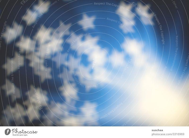 unscharfe sterne Stern (Symbol) Unschärfe Explosion Urknall abstrakt blau Licht hell schemenhaft Strukturen & Formen Experiment