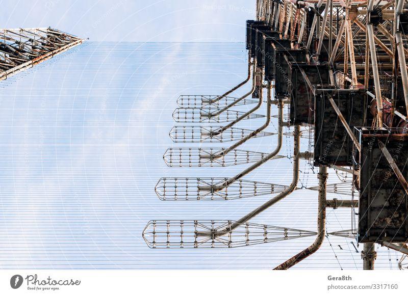 alte geheime Armee sowjetischen Radar gegen den Himmel in Tschernobyl Design Ferien & Urlaub & Reisen Tourismus Ausflug Wolken Herbst Antenne Metall Linie