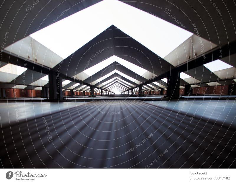 Blick nach Irgendwo Stil Design DDR Lichtenberg Wand Dekoration & Verzierung Metall außergewöhnlich eckig hoch lang retro viele grau Mittelpunkt Tunnelblick
