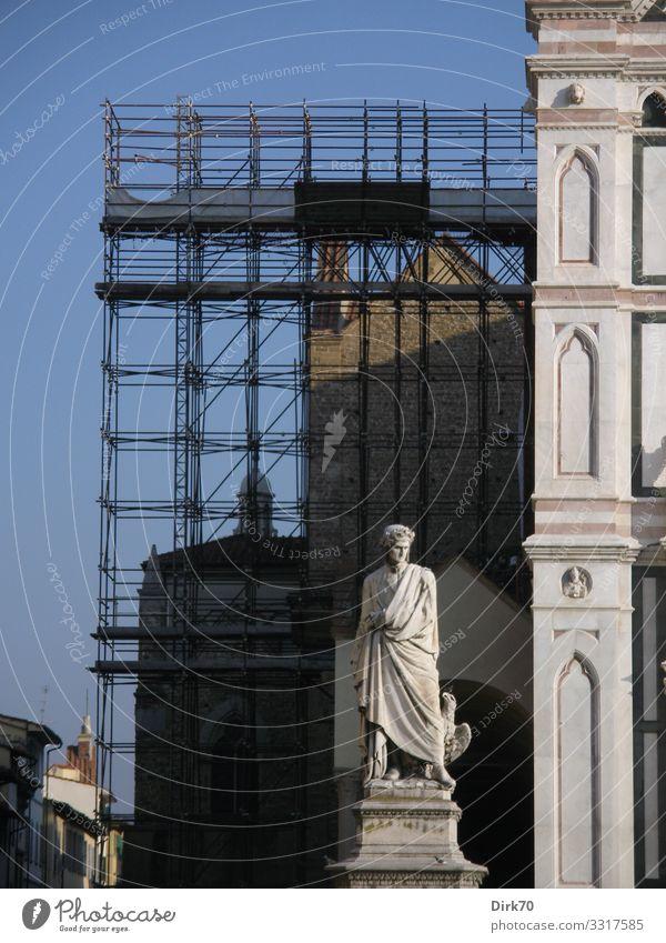 Florence, Santa Croce Ferien & Urlaub & Reisen Tourismus Sightseeing Städtereise Bildungsreise Kunst Skulptur Kultur Florenz Toskana Italien Stadtzentrum Kirche