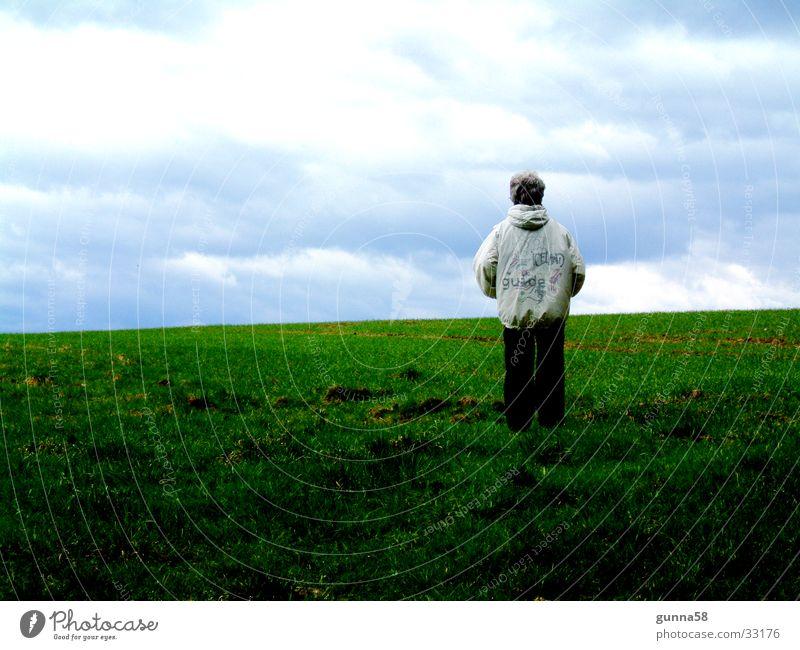 Horizont Wolken Ferne Wiese Freiheit Unendlichkeit
