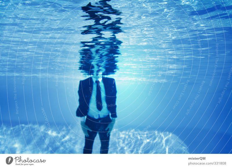 heads up. blau Wasser Freude Stil Business Kunst Freizeit & Hobby elegant Zufriedenheit Design Lifestyle verrückt Perspektive ästhetisch Kreativität Idee
