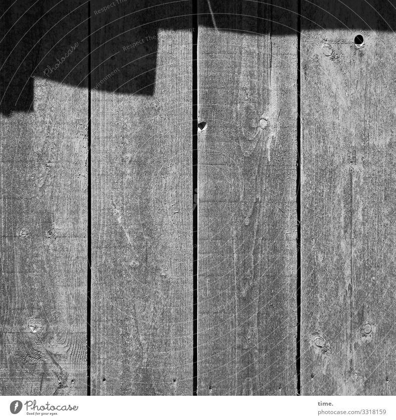 Geschichten vom Zaun (72) wand oberfläche altbau trashig schwung linien holz zaun ritze spalt sonnig schatten loch maserung grau stimmung inspiration damals